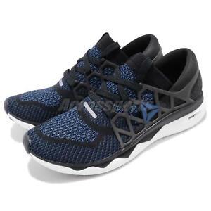Details about Reebok Floatride Run ULTK Ultraknit Black Blue White Men Running Shoes CN6049