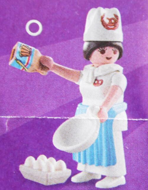 PLAYMOBIL 70243 Figures Girls Serie 17, Konditorin Bäckerin Eier Mehl   # 1 NEU