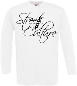 Uomo-Longsleeve-Street-Culture-Kultur-Urban-Strada-Handlettering-Cool-Stampa-Sp