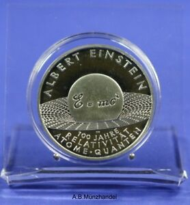 10 Euro Moneta Commemorativa 2005 J Argento Albert Einstein