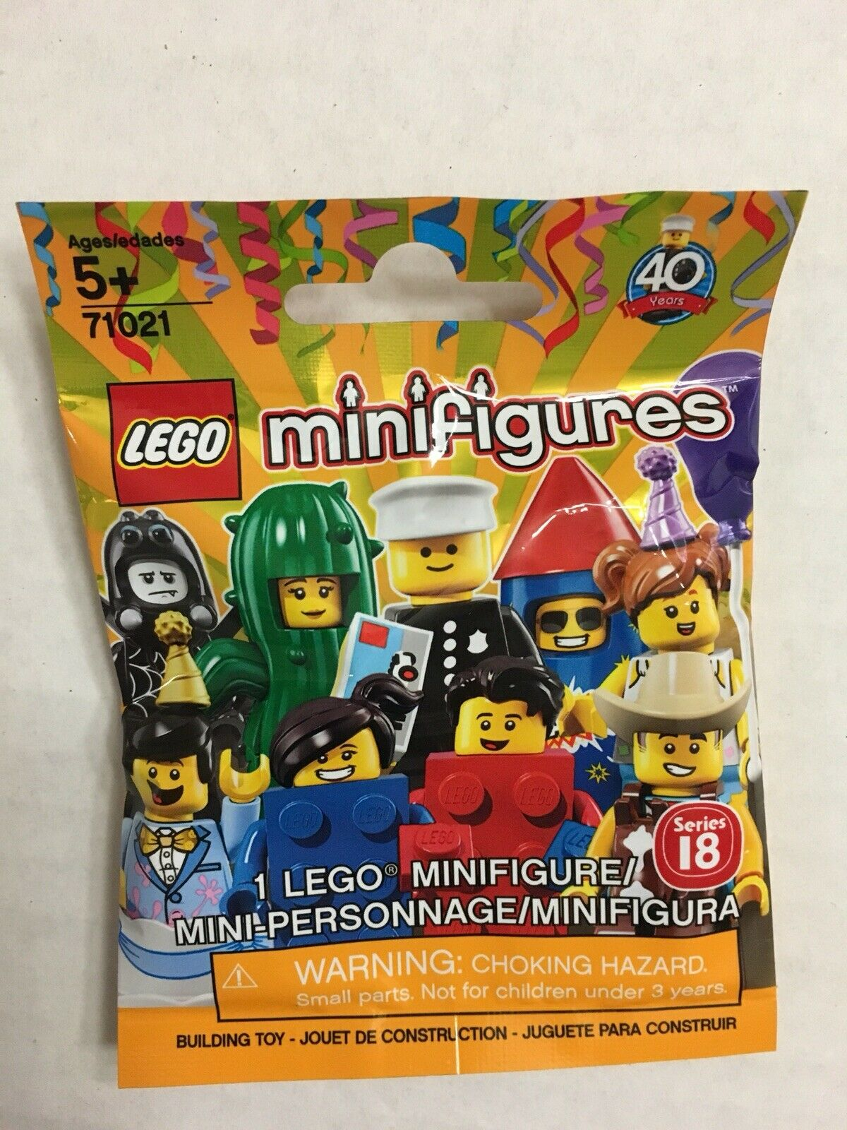 UNOPENED LEGO 71021 Minifigures Series 18 COMPLETE COMPLETE COMPLETE SET OF 17 WITH POLICE OFFICER f80cf7