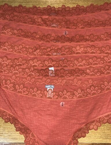 LOT OF 7 AERIE CHEEKY STRETCH LACE PANTIES  SIZE LARGE NEW NO TAG