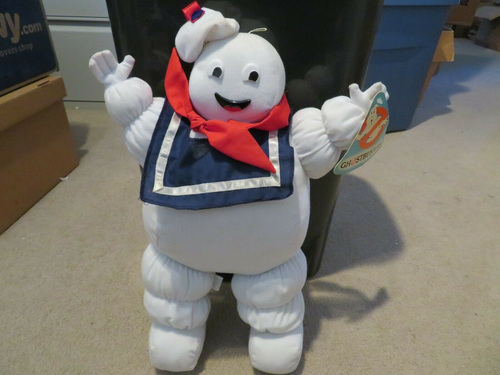 Galoob Ghostbusters Stay Puft Marshmellow Man Stuffed Pillow Toy 1984 with Tag