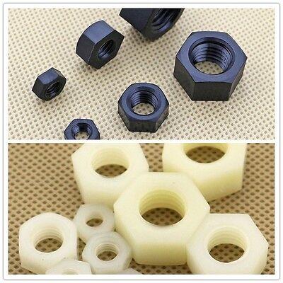 5PCS-100PCS Nylon Hex Nut Plastic Nut M2 M3 M4 M5 M6 M8 M10 M12 M14 M16 M18 M20
