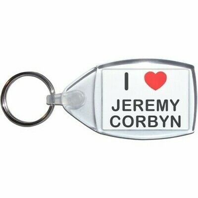 Plastic Bottle Opener Key Ring New I love Jeremy Corbyn