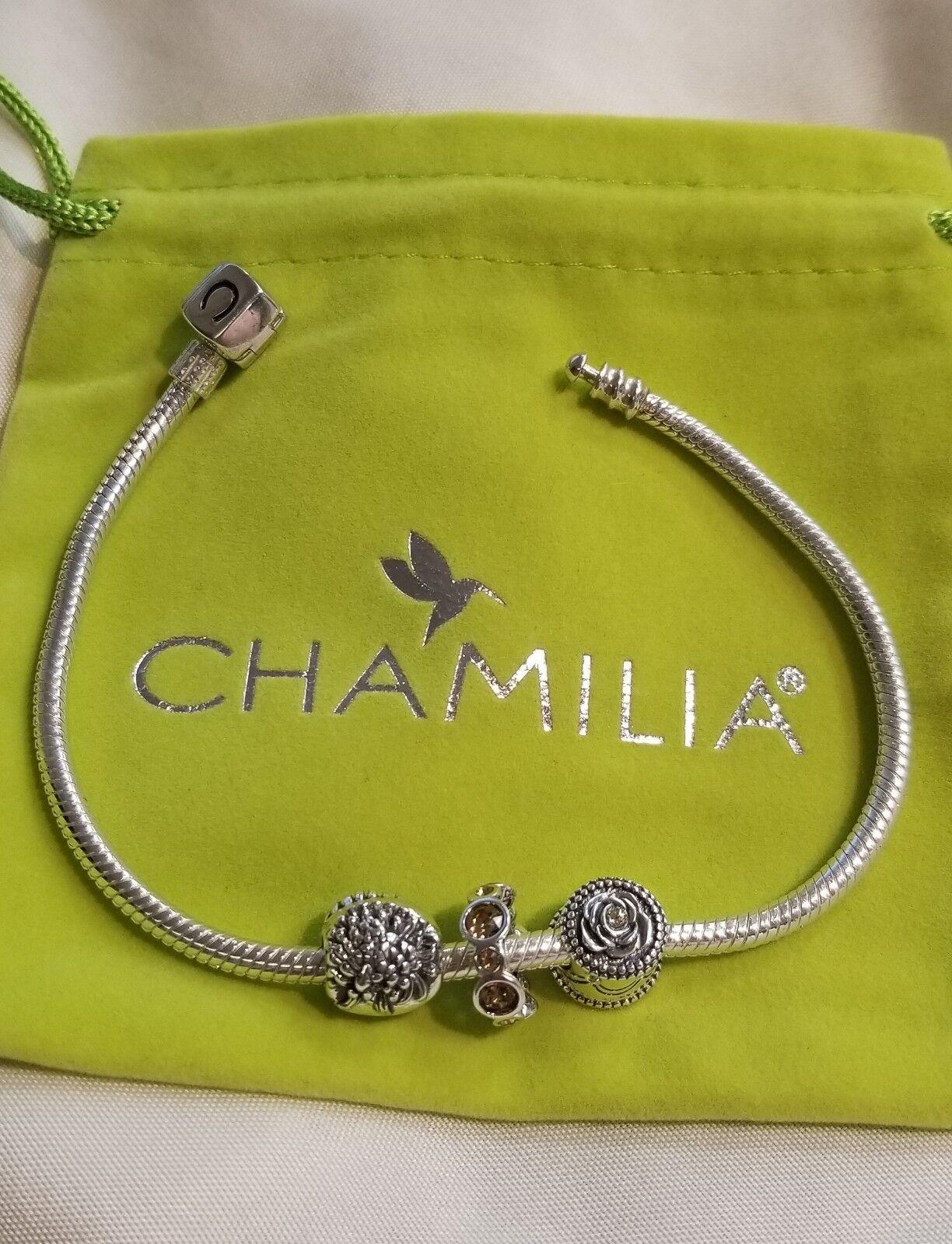 Brand New Chamilia November Bead Set 7.9 snap bracelet