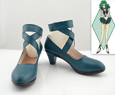 Cosplay Sailor moon Sailor Neptune Kaiou Michiru Schuhe Stiefel Boots PU Neu