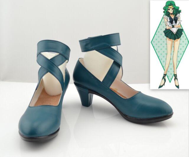 Cosplay Sailor moon Sailor Neptune Kaiou Michiru Schuhe Stiefel Boots PU Neu