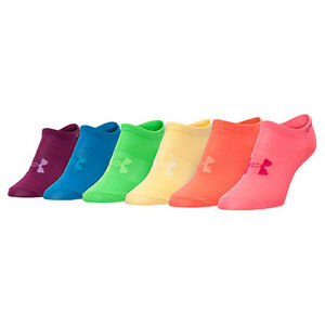 8e7be288f4 Women s Under Armour Solid 6-Pack No Show Socks Bright NEW WITH TAGS ...