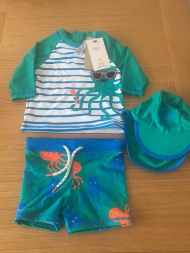 Rrp £20 Bnwt Marks And Spencers 3 Piece Uv Suit 18-24 Months