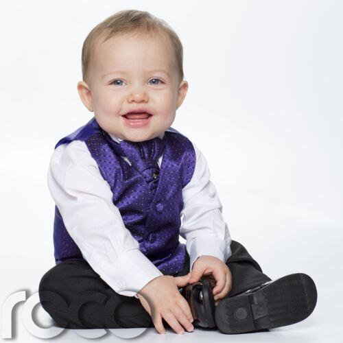 página Boy Trajes Bebé Niños Púrpura Y Negro Chaleco Traje Diamante Chaleco