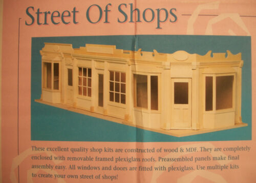 by Houseworks 9992 unfinished wood 1//12 scale dollhouse BAY WINDOW SHOP KIT