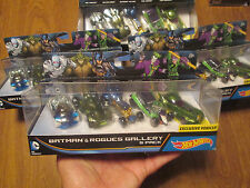 HOT WHEELS BATMAN & ROGUES GALLERY 5 PACK DC COMICS THE JOKER,RIDDLER,MR.FREEZE