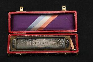 ANTIQUE Original HOHNER Super Chromonica Harmonica in Key ...