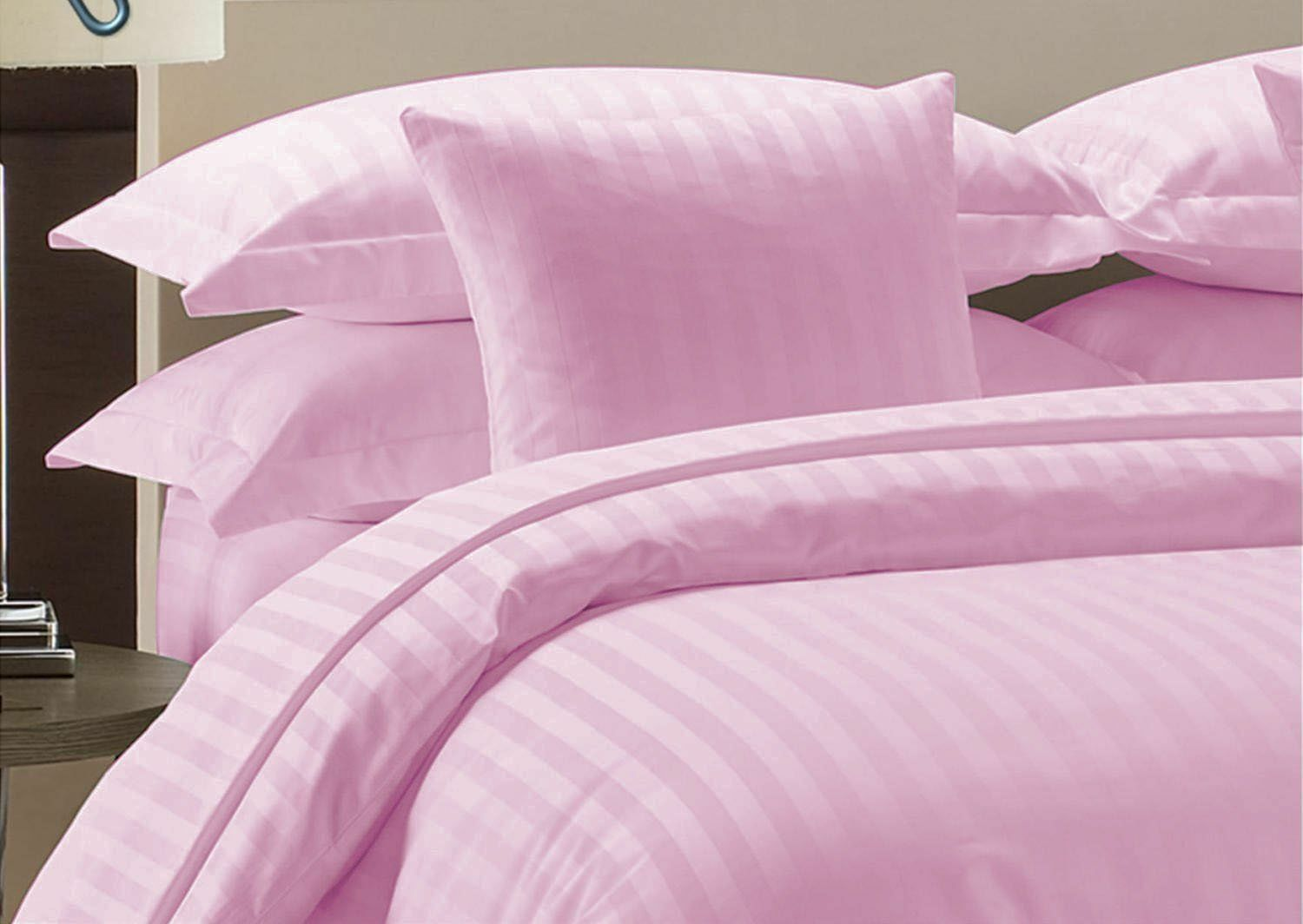 US 6 PC Sheet Set Pink Striped Select Size 1000 Thread Count Egyptian Cotton