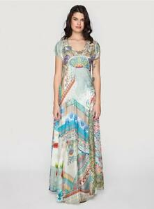 Nwt Johnny Was Printed Signature Silk Leyla Maxi Dress 387 Retail