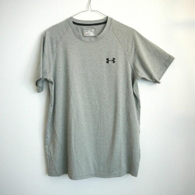 Under Armour 1228539 Black White Medium Training Tech Short Sleeve Men/'s Shirt