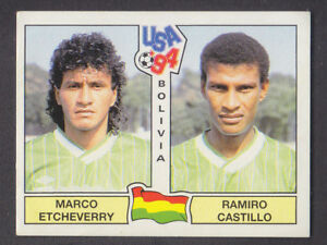 PANINI STICKERS USA 94 WORLD CUP N 231 BOLIVIA NEW BACK VERY GOOD!