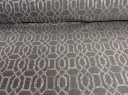 Dalta Nile Linen Grey //Silver  Jacquard Curtain// Upholstery Fabric