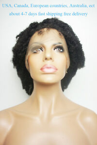 Details about Human Hair wigs Afro Kinky