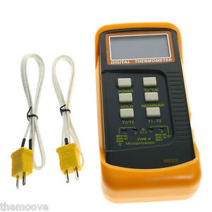 Digital-Thermometer-2-K-Type-Temperature-Thermocouple-Sensor-Probe-AU