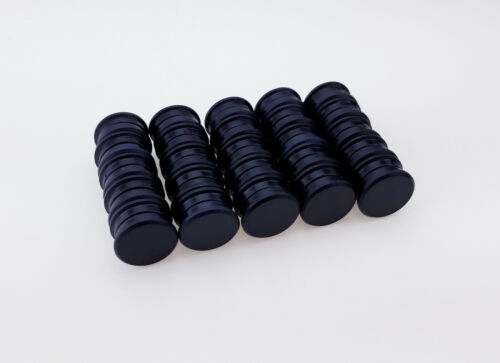 20 Magnete Schwarz Ø 24 mm Pinnwand Magnet Büro Kühlschrank Whiteboard Tafel