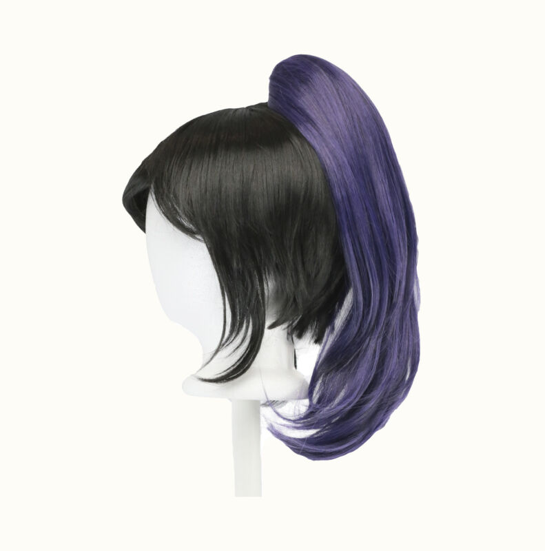 """28/"""" Curly Layered Cut with Teased Bump and Short Bangs Lilac Purple Wig NEW"""