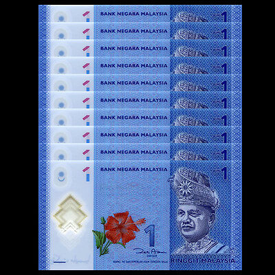 MALAYSIA 1 RINGGIT 2012 POLYMER P 51 UNC LOT 20 PCS