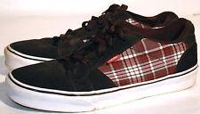 Vans Suede Denim Black Plaid Checks Men's Skating Shoe Sneakers Vintage Size 9.5
