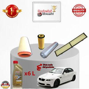 OLIO BMW SERIE 3 320d E90//E91//E92 120KW 163CV DAL 2005 /> KIT TAGLIANDO FILTRI