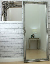 6ft Tall Verona Full Length Silver Shabby Chic Leaner Wall Mirror 183cm x 74cm