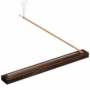 100-Natural-Padauk-Wood-Dual-Holder-Incense-Stick-Burner-Ash-Catcher