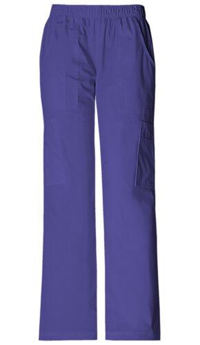Grape Cherokee Workwear Core Stretch Pull On Cargo Scrub Pants 4005 GRPW