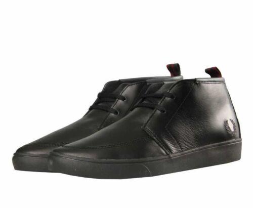 cuero 102 medio hombre Fred B9150 Negro Zapatillas de zapatos Perry para qw6YWqzfx1