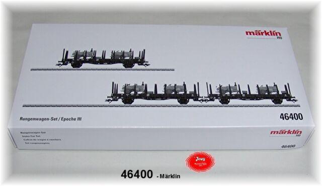 Märklin 46400 Rungenwagen-Set beladen der DB 3-teilig #NEU in OVP#