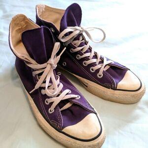Details about Vintage Converse All Star Chuck Taylor USA Sz 7 Purple