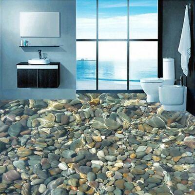 Floor Covering Wallpaper Bathroom 3d Lifelike Pebbles Mural Self