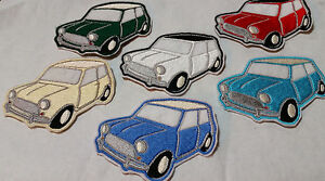 Mini Cooper Surf Blue 9.5cm x 7cm Patch Embroidered Sew or Iron on Badge