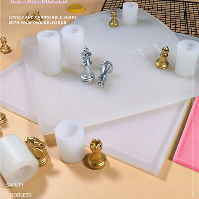 Crystal Epoxy Resin Mold Chess Board Casting Silicone Mould DIY Craft Making