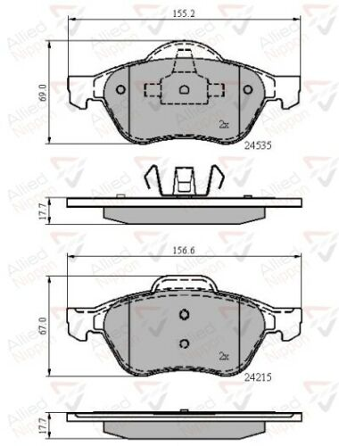 FRONT BRAKE PAD SET FOR RENAULT CLIO MAGANE 1.6 1.9 2.0 DCI 16V ADB02017