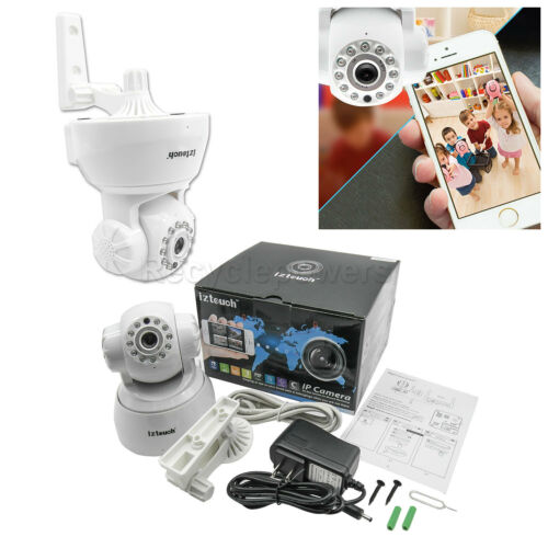 IP Cam web camera HD 720P Wifi Wireless Audio w Pan Tilt Security CCTV white