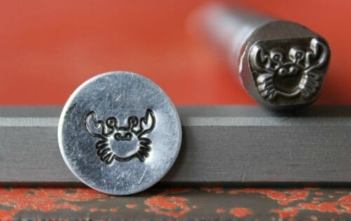 Made in the USA SUPPLY GUY 7mm Crab Metal Punch Design Stamp SG375-121