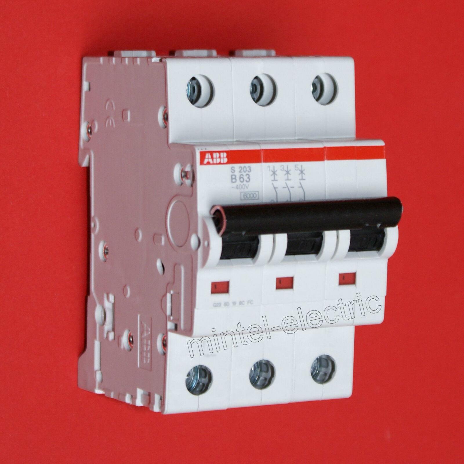 ABB ABB ABB S203-B63   3-polig   63A Sicherungsautomat Leitungsschutzschalter | Sonderpreis  10496b