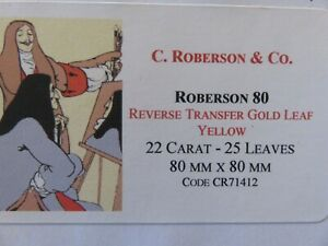 Transfer-Gold-Leaf-Yellow-22-Carat-80-x-80mm-15-Leaves-C-Roberson-amp-Co