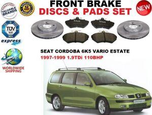para-Seat-Cordoba-Familiar-Vario-1-9tdi-97-99-Discos-freno-Delantero-Set