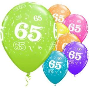 Image Is Loading 6 X 65th Birthday Various Colours Mix 11