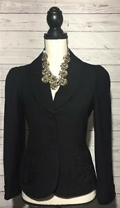 Marc Jacobs Wool Blazer Size 2 Black Lined Jacket Pre Owned