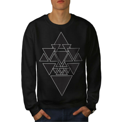 Hombres Negro Triangle Nuevo Sudadera Oculta 5RwYqXx