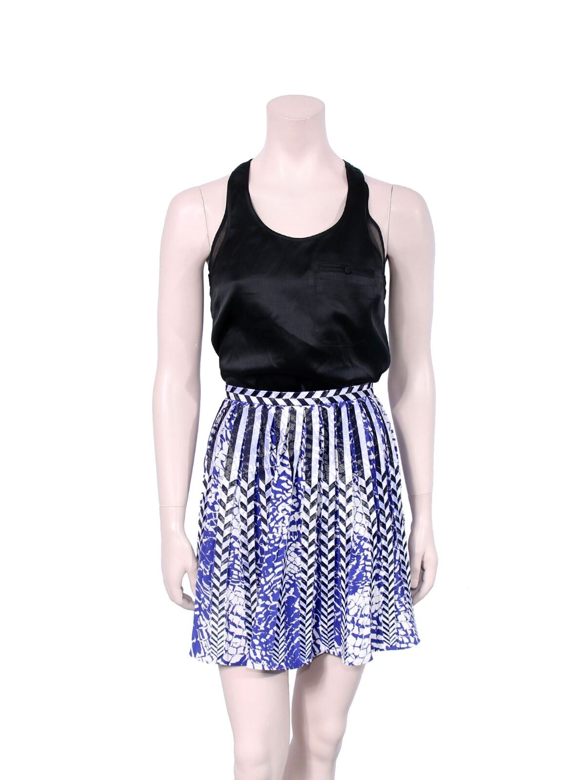 PARKER Printed Pleated Skirt (SIZE S)