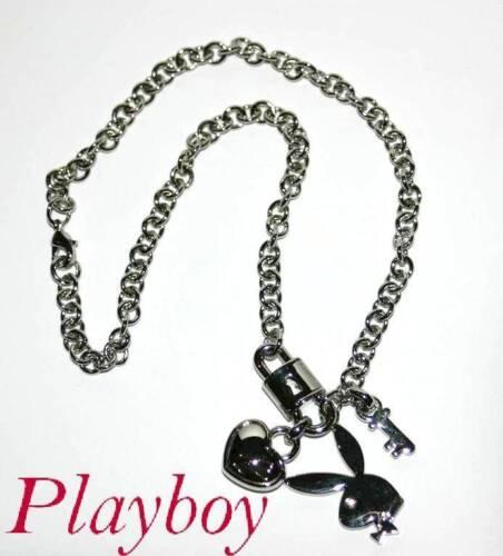 Inka-Kette mit 4 Glücks-Anhängern*Herz,Schloß,Schlüssel,Bunny *Neu by PLAYBOY